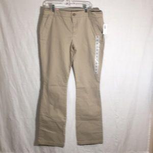 Old Navy NWT  pants khakis size 12 boot cut regula
